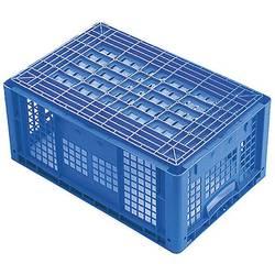 1657983 Ergonomic škatla za shranjevanje z mrežico primeren za prehrano (D x Š x V) 600 x 400 x 420 mm modra 1 kos