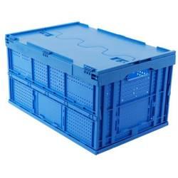 1657996 Škatla za shranjevanje z mrežico Primeren za prehrano (D x Š x V) 600 x 400 x 310 mm Modra 1 KOS