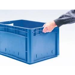 1658180 Ergonomic škatla za shranjevanje z mrežico primeren za prehrano (D x Š x V) 600 x 400 x 120 mm modra 1 kos