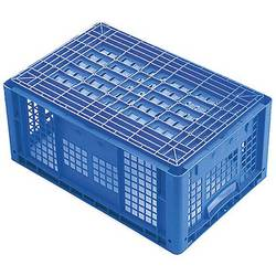 1658181 Ergonomic škatla za shranjevanje z mrežico primeren za prehrano (D x Š x V) 600 x 400 x 270 mm modra 1 kos