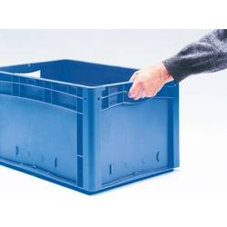 1658361 Ergonomic škatla za shranjevanje z mrežico primeren za prehrano (D x Š x V) 600 x 400 x 220 mm modra 1 kos