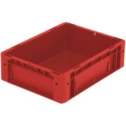 1658363 Ergonomic škatla za shranjevanje z mrežico primeren za prehrano (D x Š x V) 400 x 300 x 120 mm rdeča 1 kos
