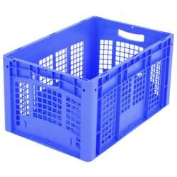 1658368 Ergonomic škatla za shranjevanje z mrežico primeren za prehrano (D x Š x V) 600 x 400 x 320 mm modra 1 kos