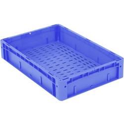 1658562 Ergonomic škatla za shranjevanje z mrežico primeren za prehrano (D x Š x V) 600 x 400 x 120 mm modra 1 kos