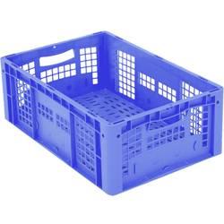 1658563 Ergonomic Škatla za shranjevanje z mrežico Primeren za prehrano (D x Š x V) 600 x 400 x 220 mm Modra 1 KOS