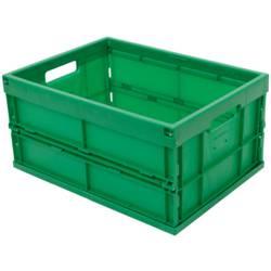 1658601 Škatla za shranjevanje z mrežico Primeren za prehrano (D x Š x V) 480 x 350 x 240 mm Zelena 1 KOS
