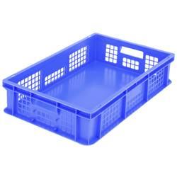 1658743 Classic škatla za shranjevanje z mrežico primeren za prehrano (D x Š x V) 600 x 400 x 130 mm modra 1 kos