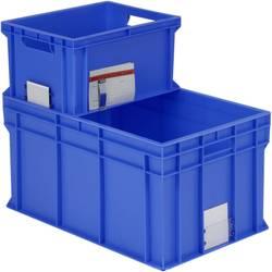1658747 Classic škatla za shranjevanje z mrežico primeren za prehrano (D x Š x V) 600 x 400 x 78 mm modra 1 kos
