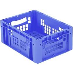 1658765 Ergonomic Škatla za shranjevanje z mrežico Primeren za prehrano (D x Š x V) 400 x 300 x 170 mm Modra 1 KOS