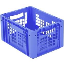 1658766 Ergonomic Škatla za shranjevanje z mrežico Primeren za prehrano (D x Š x V) 400 x 300 x 220 mm Modra 1 KOS