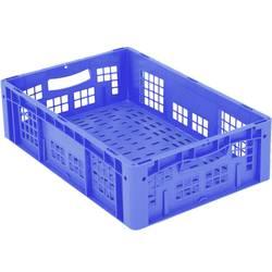 1658767 Ergonomic Škatla za shranjevanje z mrežico Primeren za prehrano (D x Š x V) 600 x 400 x 170 mm Modra 1 KOS
