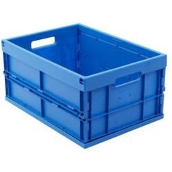 1658806 Škatla za shranjevanje z mrežico Primeren za prehrano (D x Š x V) 480 x 350 x 240 mm Modra 1 KOS