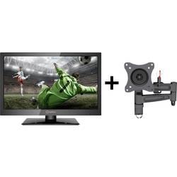 LED TV CAMPING EDITION 47 cm 18.5 Renkforce RF-LEDTV18.5HDR EEK A HD ready, Triple DVB-T2/C/S2 Tuner črne barve