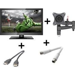 LED TV 47 cm 18.5 Renkforce RF-LEDTV18.5HDR EEK A HD ready, trojni DVB-T2/C/S2 Tuner črne barve