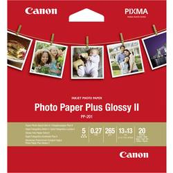 Foto papir Canon Photo Paper Plus Glossy II PP-201 2311B060 13 x 13 cm 265 g/m 20 listov sijoč