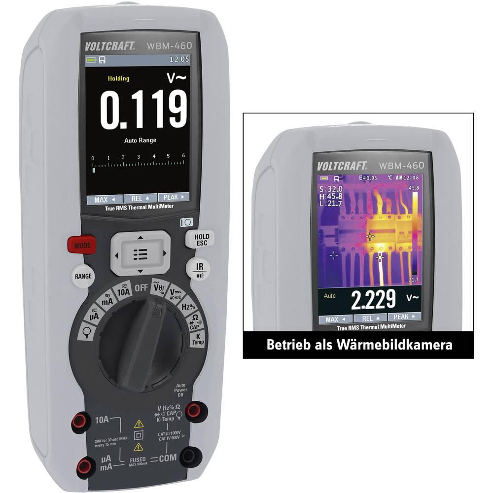 VOLTCRAFT WBM-460 termovizijska kamera, vklj funkcija multimetra -20 do +260 °C 80 x 80 pikslov 50 Hz