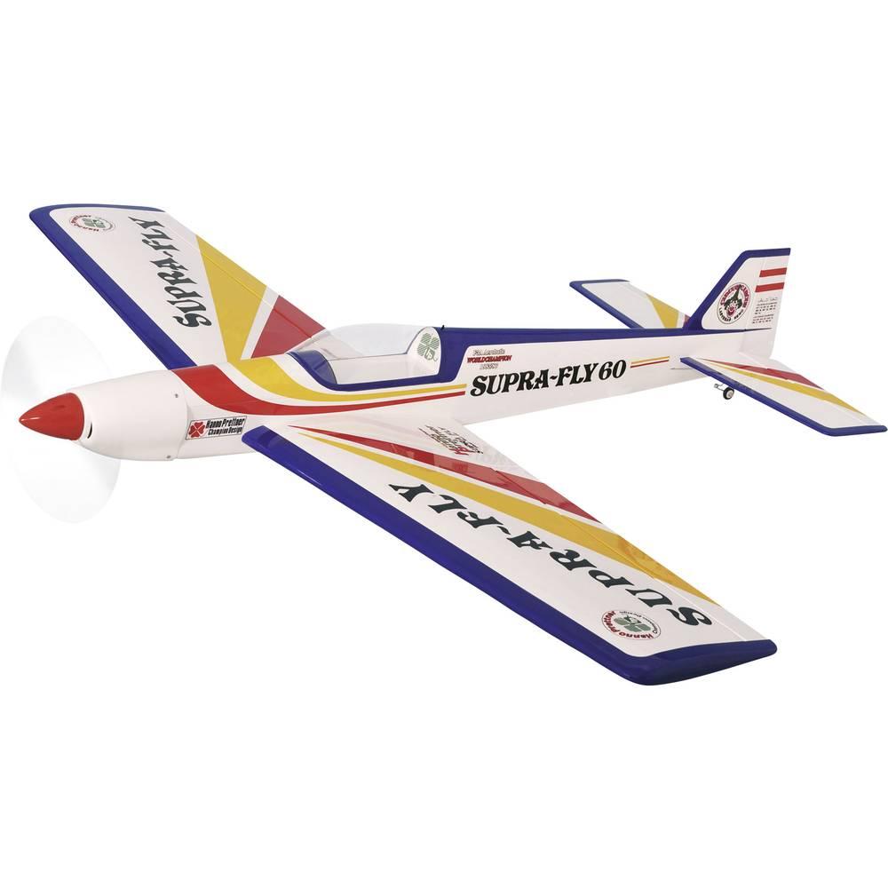 Pichler Supra Fly 60 rdeče, rumene barve RC model motornega letala na daljinsko vodenje ARF 1720 mm