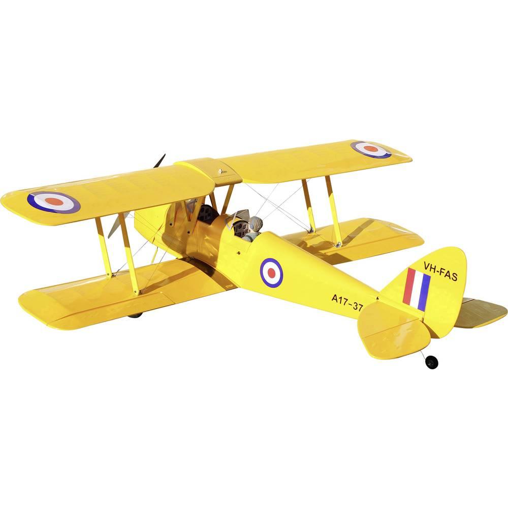 VQ Tiger Moth rumene barve RC model motornega letala na daljinsko vodenje ARF 1400 mm