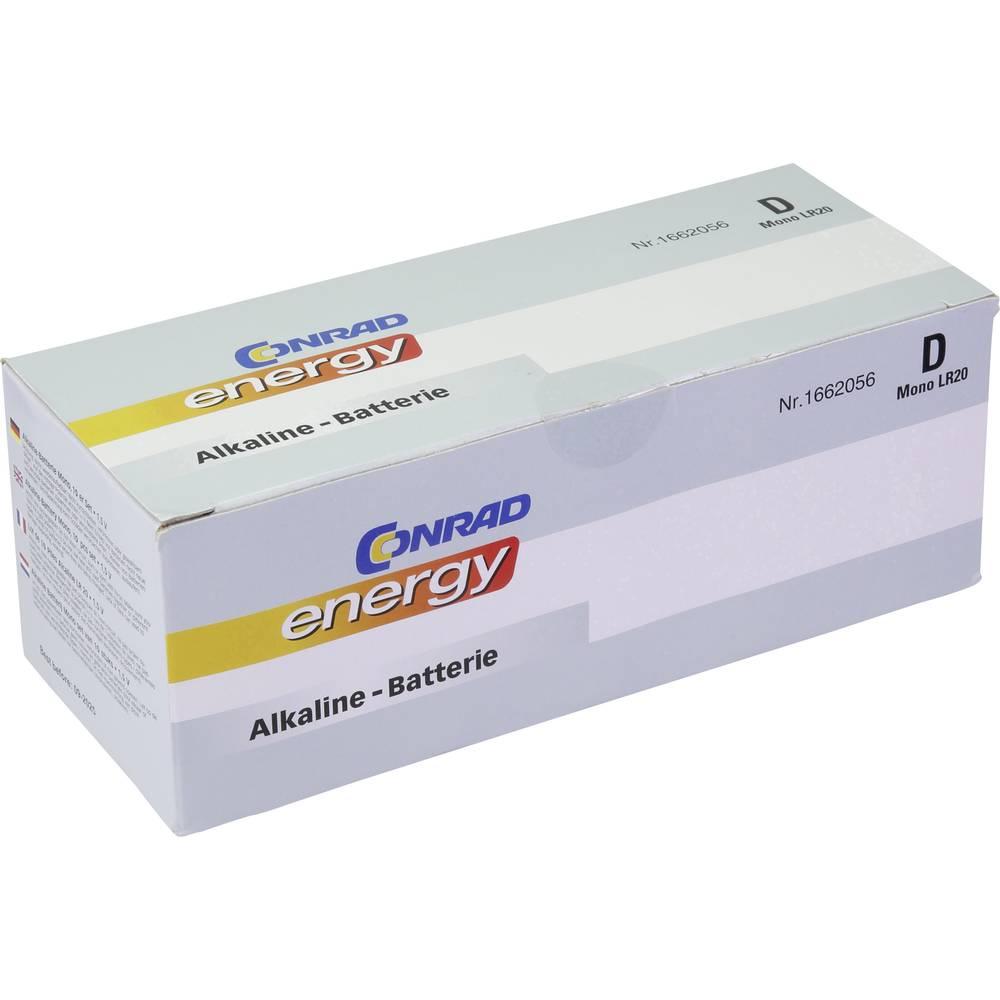 Conrad energy LR20 Mono (L) baterija Alkalno-manganov 1.5 V 10 ST