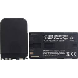 Kamerabatteri Hähnel Ersättning originalbatteri BP-945, BP-945G, BP-950, BP-950G, BP-970, BP-970G, BP-975, BP-975G 7.2 V 7800 mA