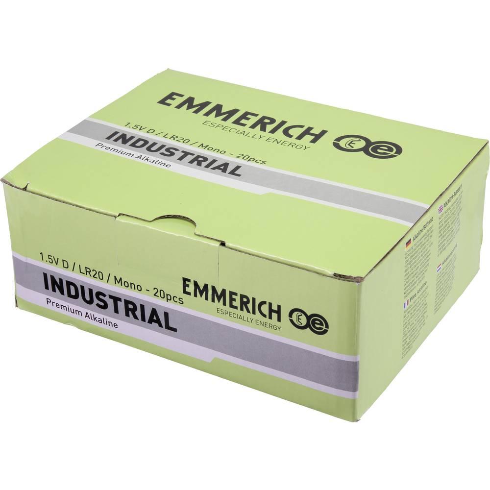 Mono (L) baterija Alkalno-manganov Emmerich Industrial LR20 18000 mAh 1.5 V 20 ST