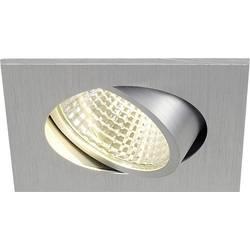 SLV New Tria 1 Set 113966 LED vgradna svetilka 3 W Topla bela Aluminij (krtačen)