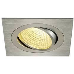 SLV New Tria 1 Set 114246 LED vgradna svetilka 12 W Topla bela Aluminij (krtačen)