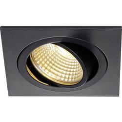 SLV New Tria 113880 LED vgradna svetilka 6 W Topla bela Črna (mat)