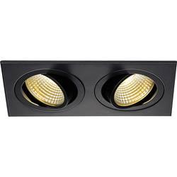 SLV New Tria 113890 LED vgradna svetilka 12 W Topla bela Črna (mat)