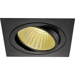 SLV New Tria 1 Set 114280 LED vgradna svetilka 25 W Topla bela Črna (mat)