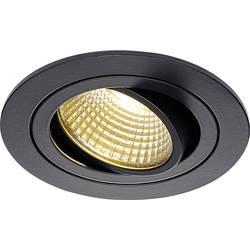 SLV New Tria 113870 LED vgradna svetilka 6 W Topla bela Črna (mat)