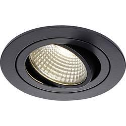 SLV New Tria 113900 LED vgradna svetilka 6 W Topla bela Črna (mat)
