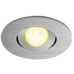 SLV New Tria Mini Set 113976 LED vgradna svetilka 4.4 W Topla bela Aluminij (krtačen)