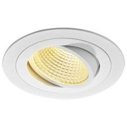 SLV New Tria 1 Set 114221 LED vgradna svetilka 12 W Topla bela Bela (mat)