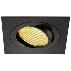 SLV New Tria 1 Set 114240 LED vgradna svetilka 12 W Topla bela Črna (mat)