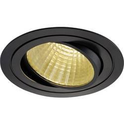 SLV New Tria 1 Set 114260 LED vgradna svetilka 25 W Topla bela Črna (mat)