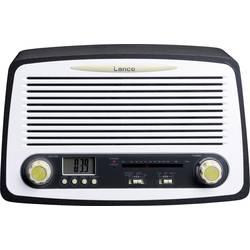 FM Klockradio Lenco SR-02 AUX, FM Silver, Svart