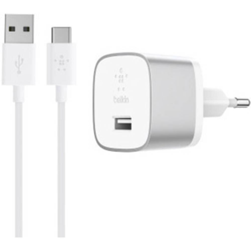 USB-oplader Belkin BOOST↑UP QC 3.0 F7U034vf04-SLV Stikdåse Udgangsstrøm max. 3000 mA 1 x USB (value.1390762) Qualcomm Quick