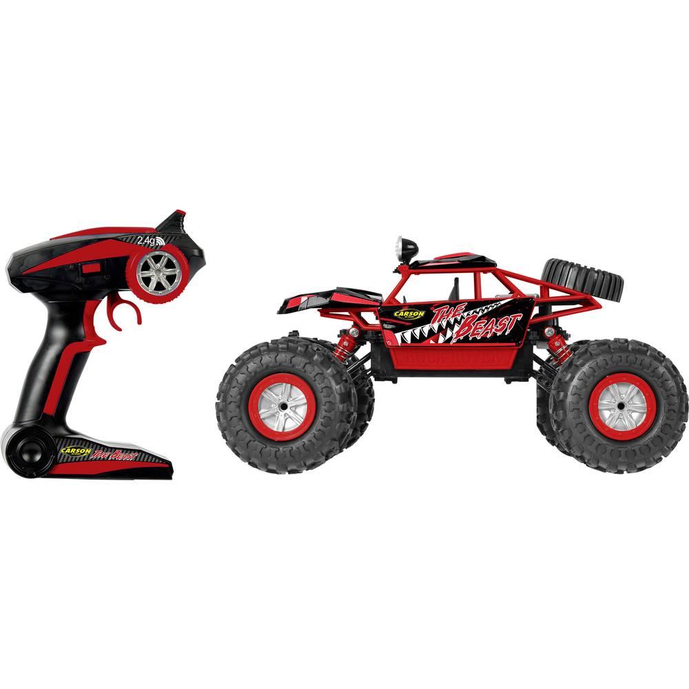 Carson Modellsport The Beast krtačni 1:12 RC model avtomobila na daljinsko vodenje, Crawler, pogon na vsa kolesa, 100% RtR 2,4 G