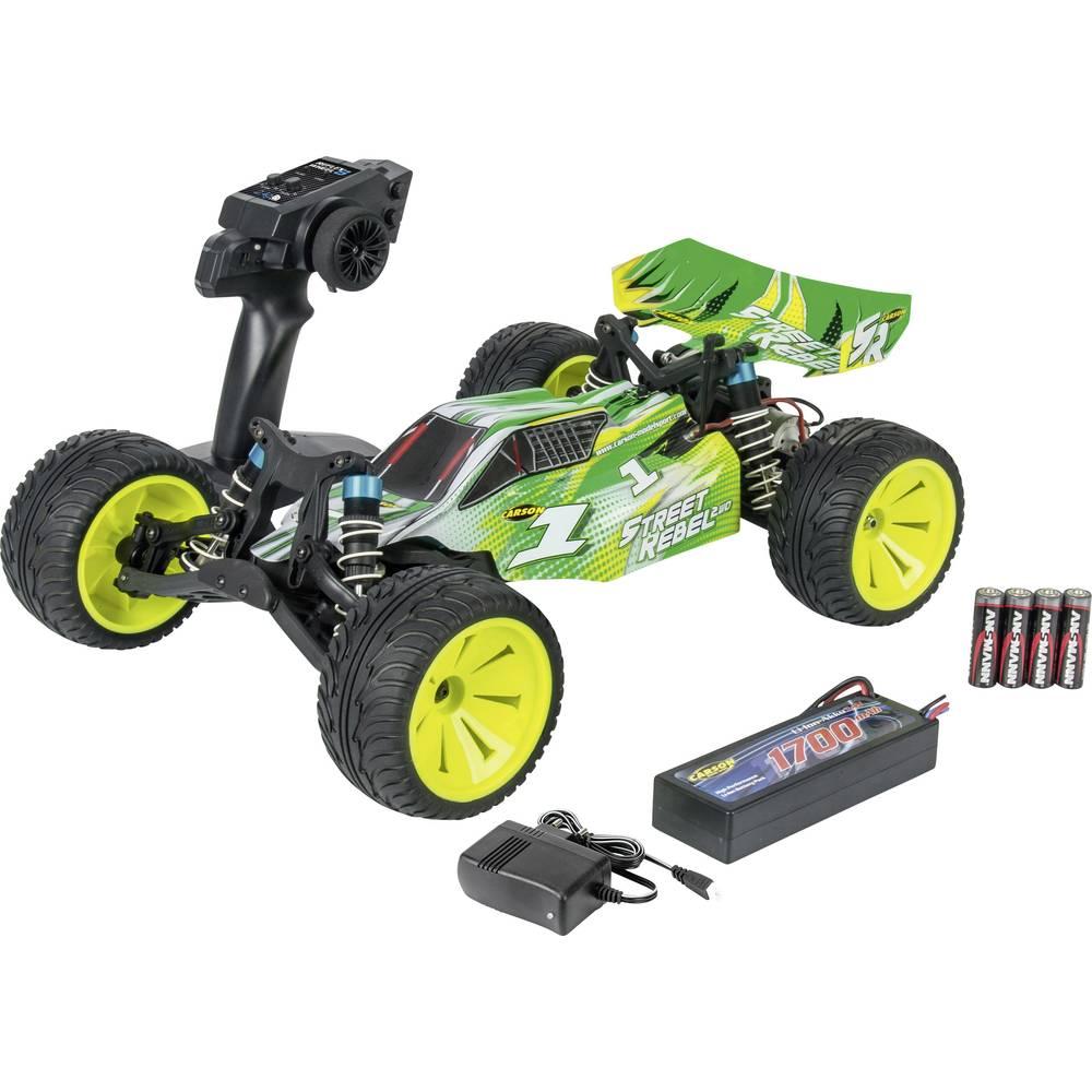 Carson Modellsport Street Rebel X10 krtačni 1:10 RC model avtomobila na daljinsko vodenje, Buggy, na zadnji pogon, 100% RtR 2,4
