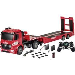 Carson RC Sport Arocs Goldhofer z nizkim priklopnikom 1:20 RC začetniški model na daljinsko vodenje, funkcijski model, tovornjak