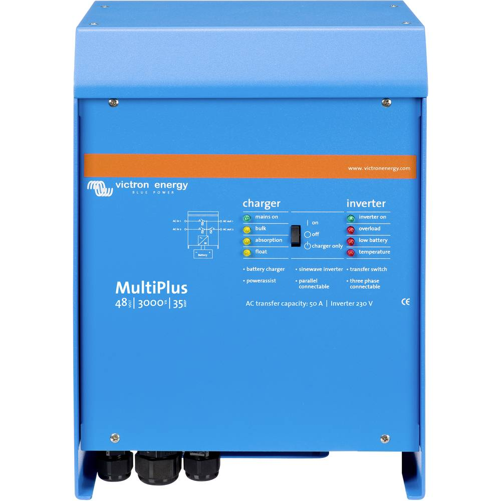 Victron Energy MultiPlus 48/3000/35-50 230 omrežni razsmernik 3000 W 48 V/DC - 230 V/AC vgrajen regulator polnjenja