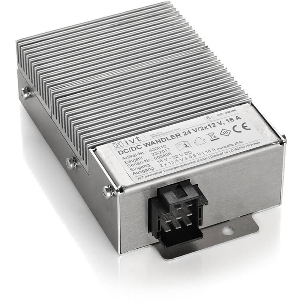 IVT 24V/2x12V dc/dc pretvornik 24 V/DC - 12 V/DC/20 A