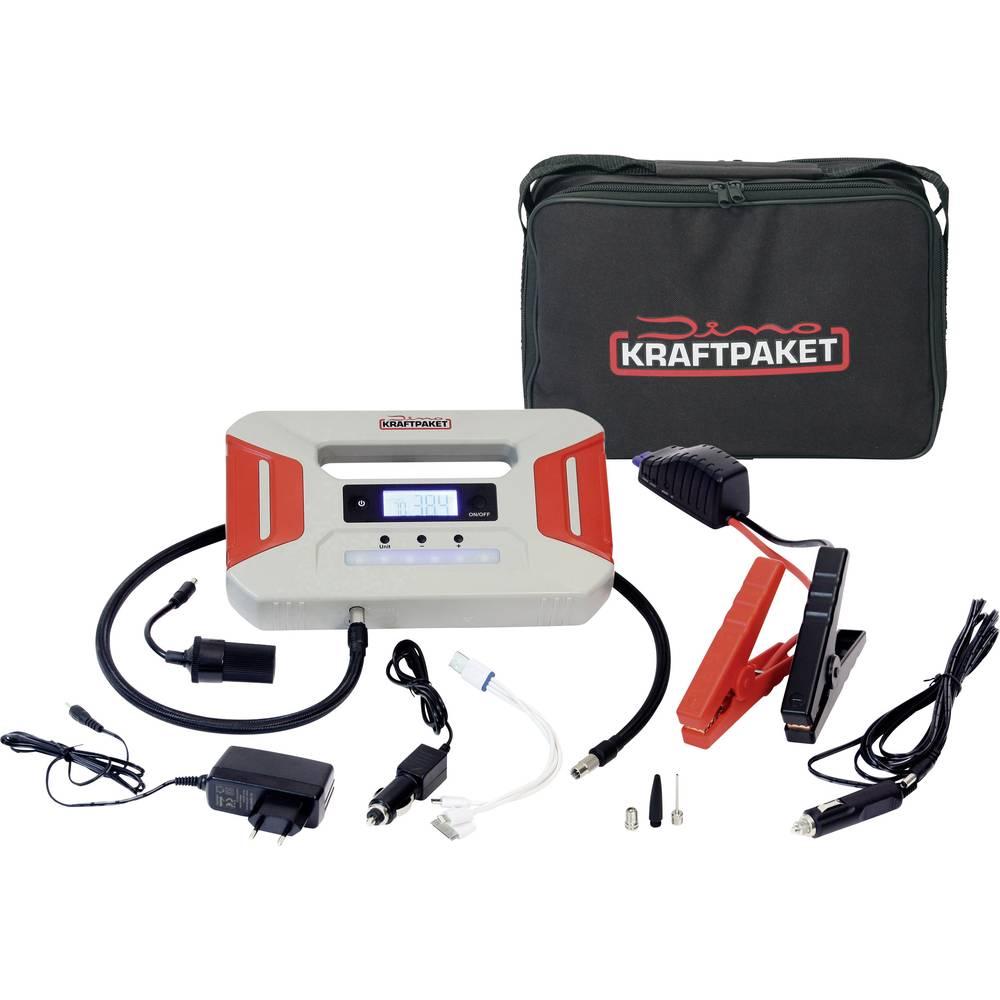 DINO sistem za hitri zagon KRAFTPAKET 12V 600A s kompresorjem, powerbank, LED svetilka 136107 zaganjalni tok (12 V)=300 A
