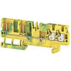 Prizemlje priključni blok APGTB 2.5 PE 4C/2 1513920000 Zeleno-žuta Weidmüller 50 ST