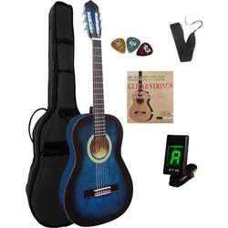 Akustisk gitarr paket MSA Musikinstrumente C9 Set Clip 3/4 Blå inkl. väska