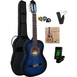 Akustisk gitarr paket MSA Musikinstrumente C 23 Set Clip 4/4 Blå inkl. väska