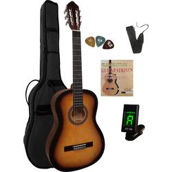 Akustisk gitarr paket MSA Musikinstrumente C 25 Set Clip 4/4 Sunburst inkl. väska