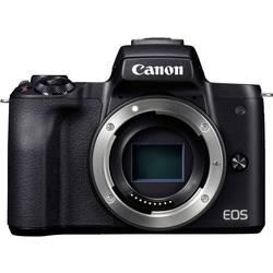 Systemkamera Canon EOS M50 Hus, inkl. Batteri 24.1 MPix Svart 4K-video, Bluetooth, Hopfällbar display, Touch-Screen, WiFi
