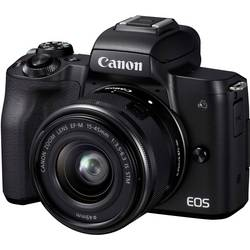 Systemkamera Canon EF-M 15-45 Kit inkl. EF-M 15-45 mm IS STM Hus, inkl. Batteri, Standard-Zoomobjektiv 24.1 MPix Svart 4K-video,